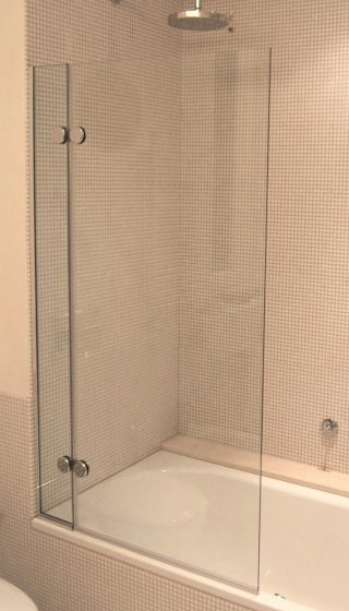 parete vasca cristallo