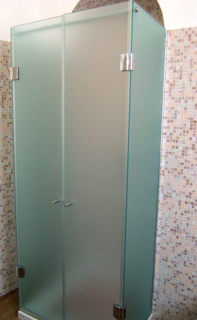box doccia su misura a tre lati satinato