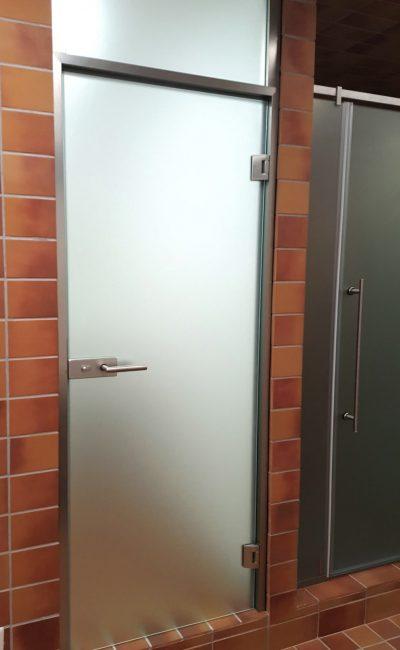 porta cristallo per bagno palestra